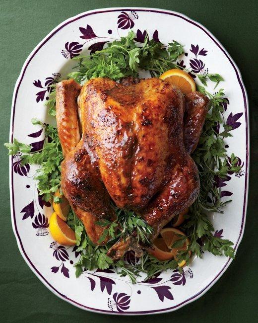 Yum! Turkey with Brown-Sugar Glaze via Martha Stewart