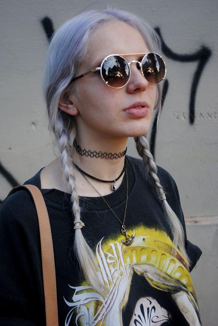 plats sunglasses tattoo choker
