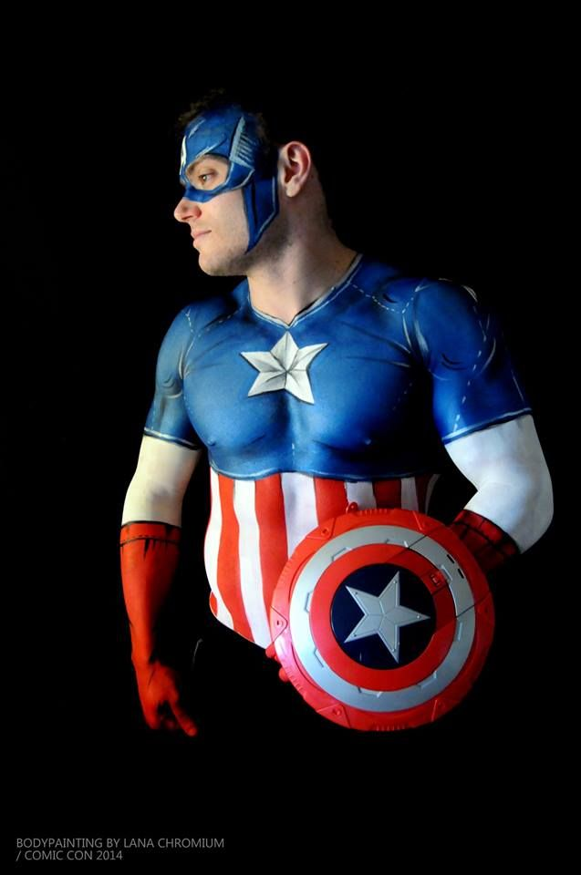 Captain america face painting related keywords captain for America s finest paint