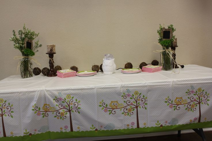 cake table owl baby shower celebrations pinterest
