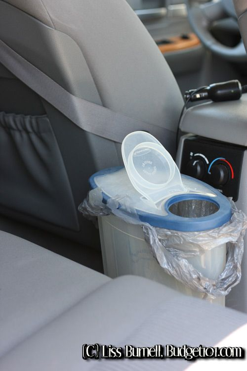 DIY: Car Organization- Keeping your car clean by repurposing kitchen items