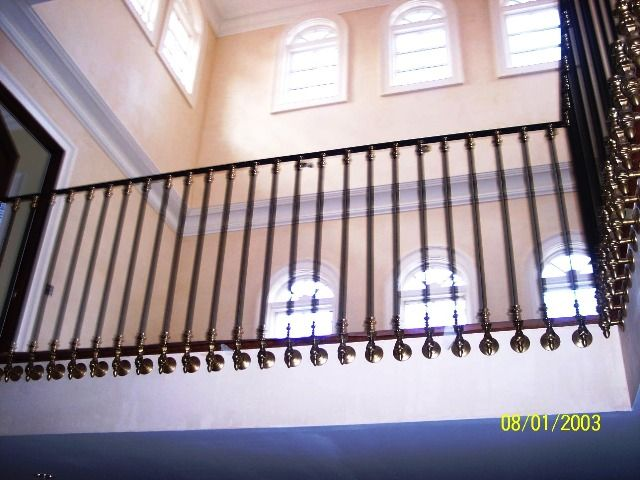 Interior wrought iron balcony railing wrought iron for Inside balcony railing
