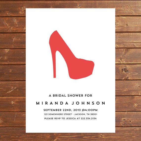 Bridal Shower Invitations Bridal Shower Invitations High Heels