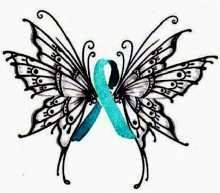 Pcos Tattoos Charity Teal Ribbon