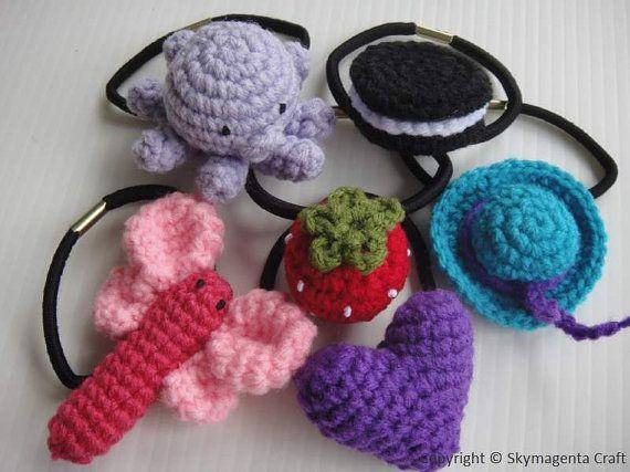 Crochet Elastic Hair Band : crochet hair elastic bands Craft fair ideas Pinterest