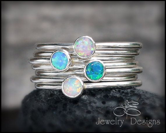 SOLID STERLING Silver  OPAL  Choose your Opal  by LEJewelryDesigns, $24.00