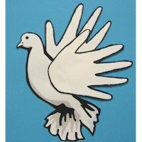 HANDPRINT DOVE: Doves are a symbol of Peace. Share the love.