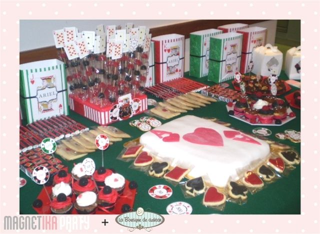 Poker birthday party decorations