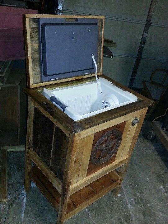 Wood cooler | Furniture I built | Pinterest