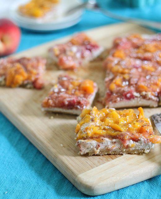 Walnut crusted peach tart with cashew coconut cream | Recipe