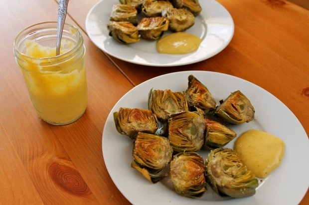 Fried baby artichokes with creamy aioli | Appetizers | Pinterest