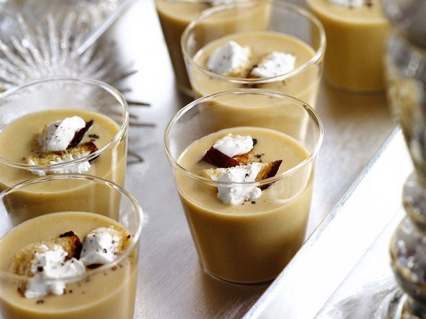 White-Bean Soup Shooters with Bacon Recipe : Food Network Kitchens ...