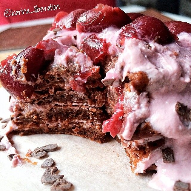 Black Forest Pancake Stack | Weight Watchers Recipes | Pinterest