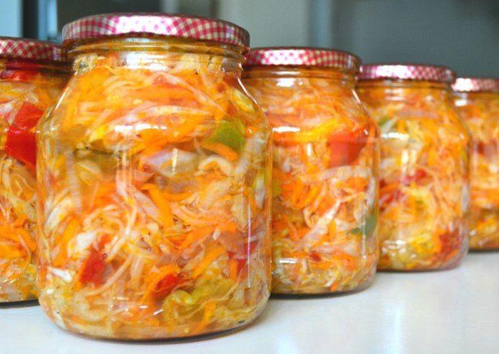 Салат из капусты перца на зиму рецепты с