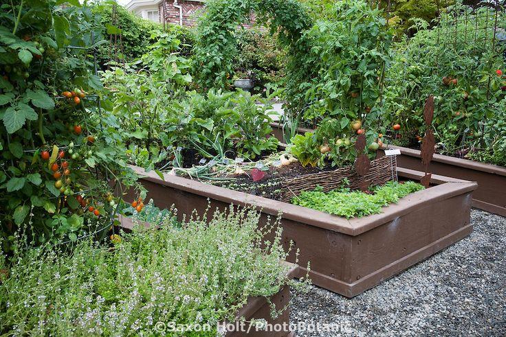 Raised Herb Garden Design Photograph Organic raised bed ve