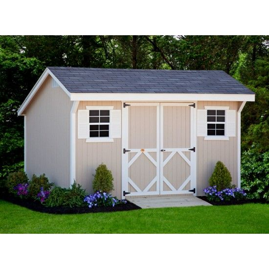 Amish Classic Saltbox Shed Panelized Kit
