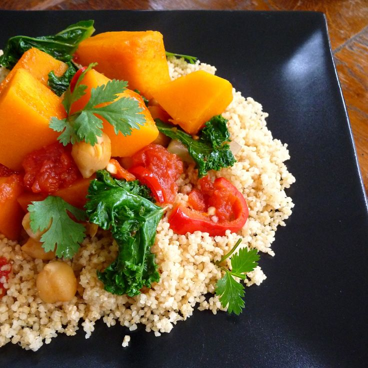 Butternut Squash, Tomato and Chickpea Ragout with Kale and Couscous ...