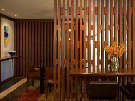 Дизайн деревянных перегородок в комнате