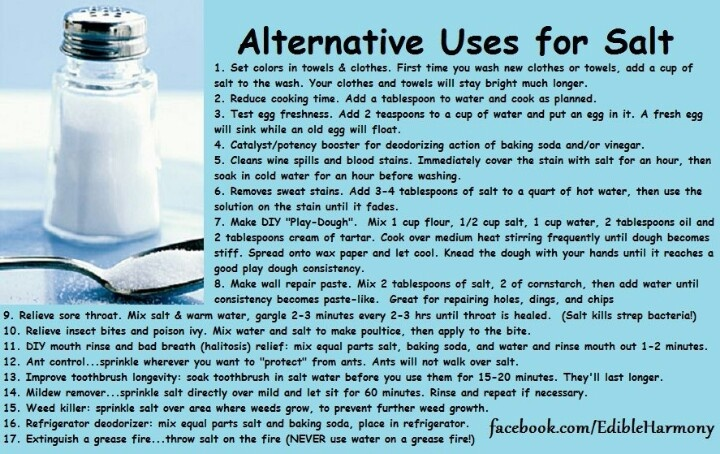Alternative uses for salt important information pinterest