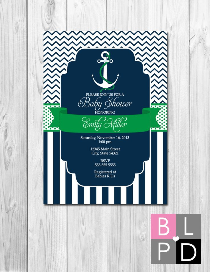 Nautical Baby Shower Invitation Ahoy Its A Boy by BeccaLeePaperie, $13