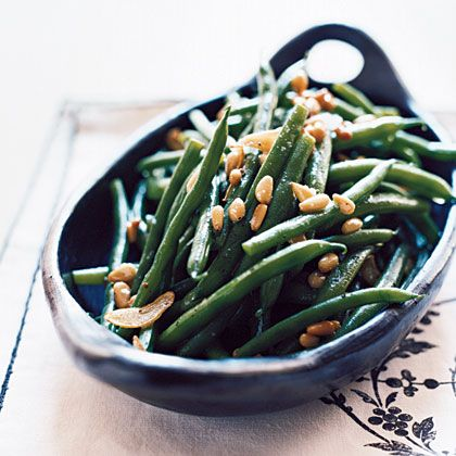 green beans stir fried green beans with lemon parmesan and pine nuts ...