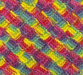 Entrelac Knitting Dishcloth Pattern : Mini-Garterlac Dishcloth Knitting and Crochet Pinterest
