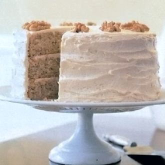 layer maple walnut cake with a maple cream cheese frosting. This cake ...