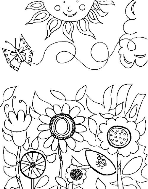 Free coloring pages for Spring garden coloring pages