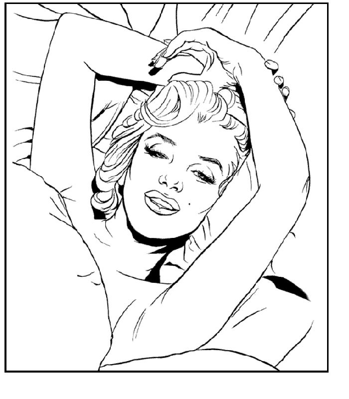 printable marilyn monroe coloring pages - photo#25