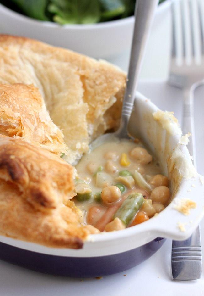 Vegetarian Curried Chickpea Pot Pie