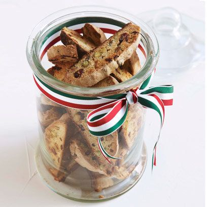 Nigella Lawson's cranberry and pistachio biscotti | Recipe