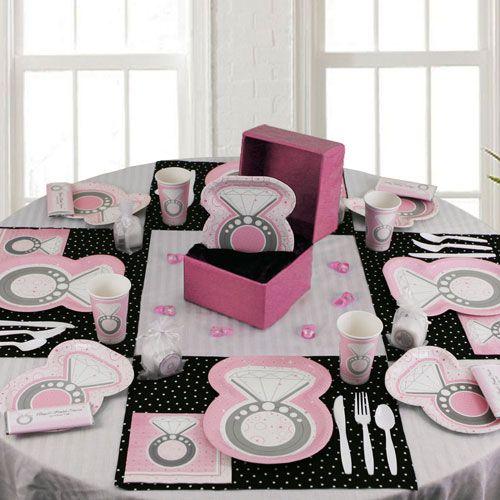 Wedding shower table decoration ideas