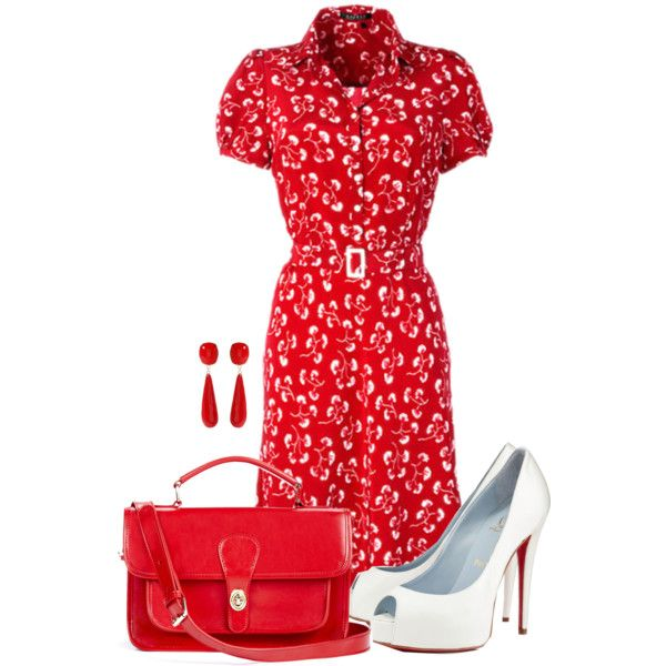 Tea dress, created by cnh92 on Polyvore