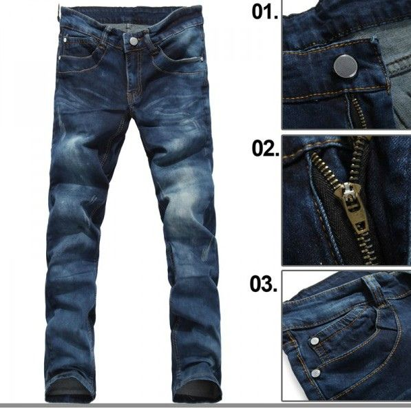 Bleached Skinny Jeans for Men