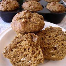 Healthy Pumpkin Applesauce Muffins Note: these were really good! Used ...