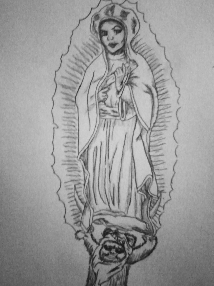 Line Drawing Virgin Mary : Princess leia as the virgin mary my drawings pinterest
