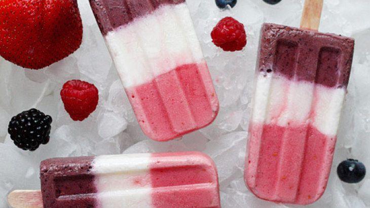 Berry Yogurt Popsicles Recipe | Skinny Recipes | Pinterest