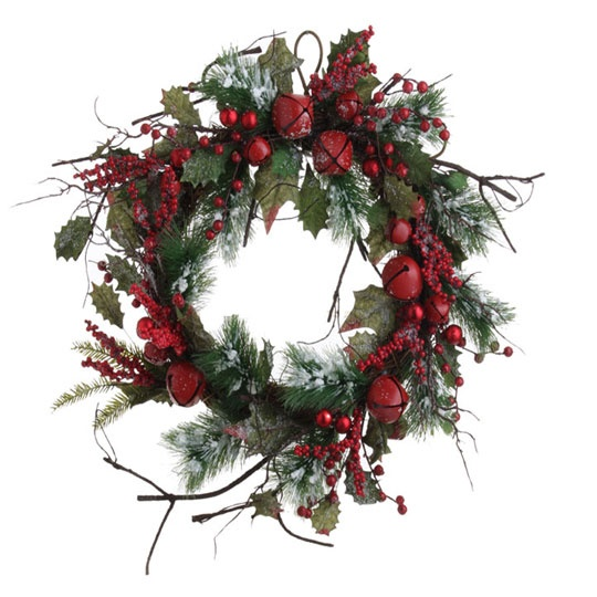 JINGLE BELL WREATH | Christmas Wreath | Pinterest