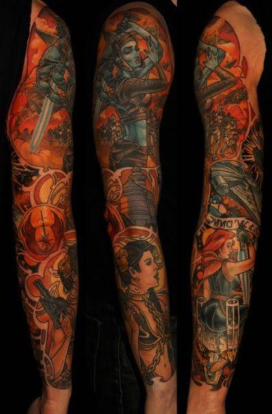 star wars tattoo full sleeve geek pinterest. Black Bedroom Furniture Sets. Home Design Ideas