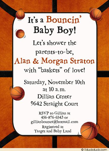 basketball baby shower baby ideas pinterest