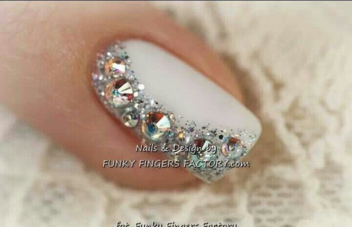 nail designs with stones | nails