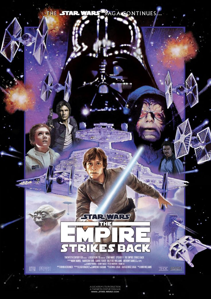 Autographed star wars movie poster