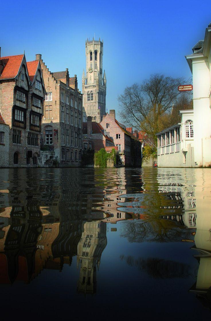 Reflections in Bruges, Belgium.