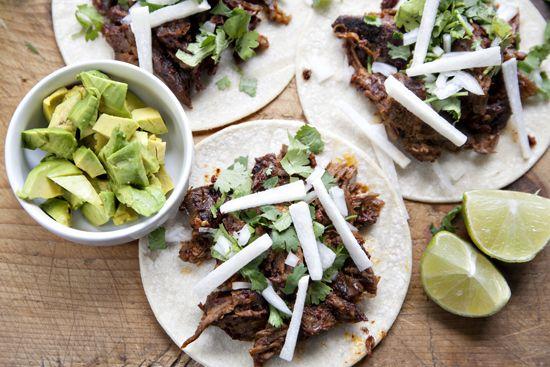 Muy Bueno Cookbook » Lamb Barbacoa with Avocado Tacos + Giveaway