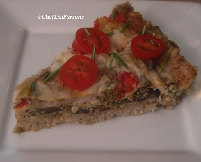Brown Rice Crust Quiche | great food | Pinterest