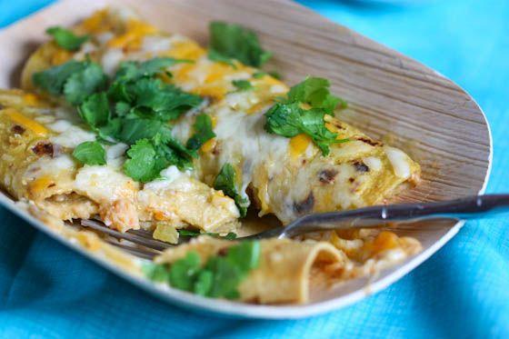 Shrimp Enchiladas Verde | Shellfish! | Pinterest