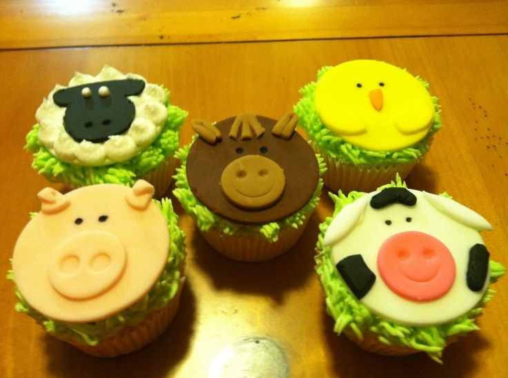 Farm animal cupcakes cakes pinterest
