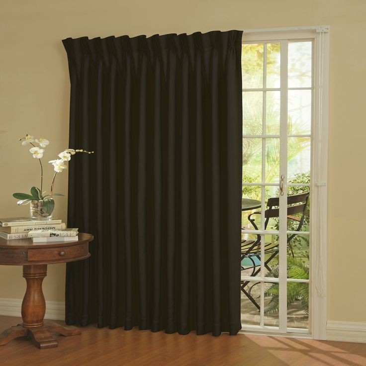 Patio Door Rod Pocket Window Curtain