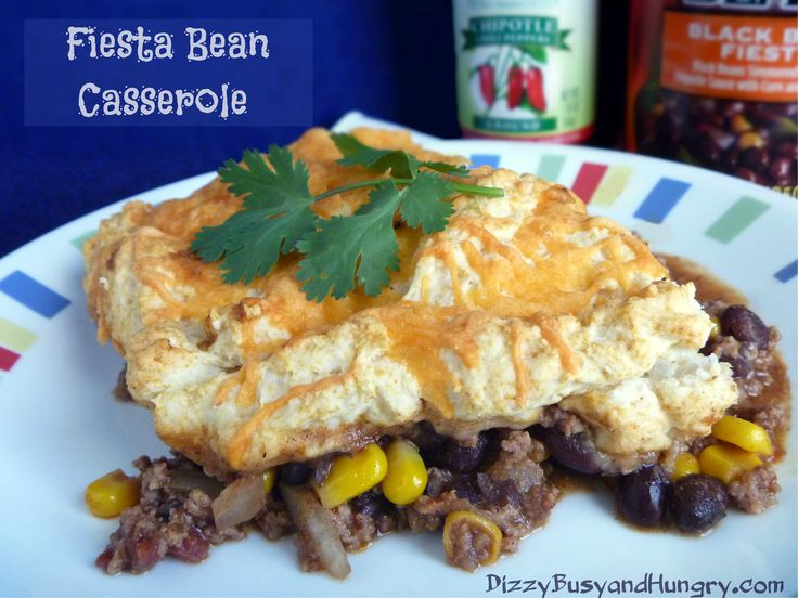 Fiesta Bean Casserole - Hearty, feisty meal in one dish, great for ...