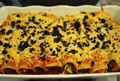 Chicken and Vegetable Enchiladas   Food   Pinterest